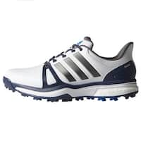 Adidas Men's Adipower Boost 2 White/Blue/Shock Blue Golf Shoes Q44661 / Q44665