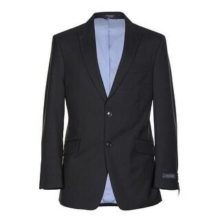 Tommy Hilfiger Wolfe Trim Fit Black Wool Stripe Sportcoat 38 Regular 38R Blazer