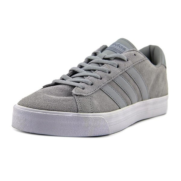 Adidas Neo Cloudfoam Super Daily Men Round Toe Suede Gray Sneakers