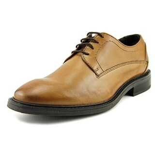 Alfani Greg Men  Round Toe Leather Tan Oxford