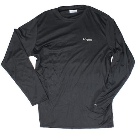 Columbia Mens T-Shirt Black Size XL Terminal Tackle Flag Long Sleeve Tee