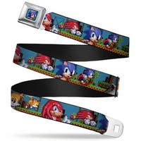 Sonic Classic Sonic Pixelated Pose Full Color Blue Sonic Tails Knuckles Seatbelt Belt