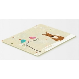 Carolines Treasures BB2606CMT Christmas Presents Between Friends Bull Terrier Red Kitchen or Bath Mat 20 x 30