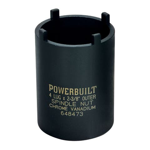 Powerbuilt Spindle Nut Socket 4 Lugs Chevy, GMC, Dodge & Ford - 648473