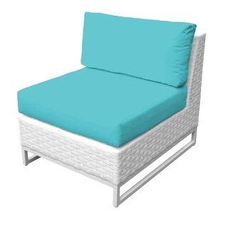 Florida 2-Piece Aluminum Framed Outdoor Armless Sofa (More options available)