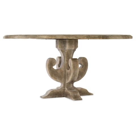 "Hooker Furniture 5750-75213A Ascension 60"" Diameter Poplar Wood Dining - Antique Milk"