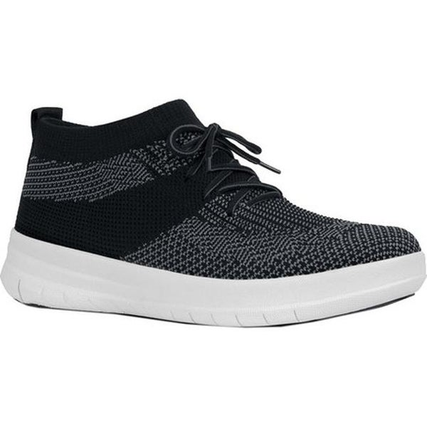 69562c95496718 FitFlop Women  x27 s F-Sporty Uberknit High Top Sneaker Black Charcoal