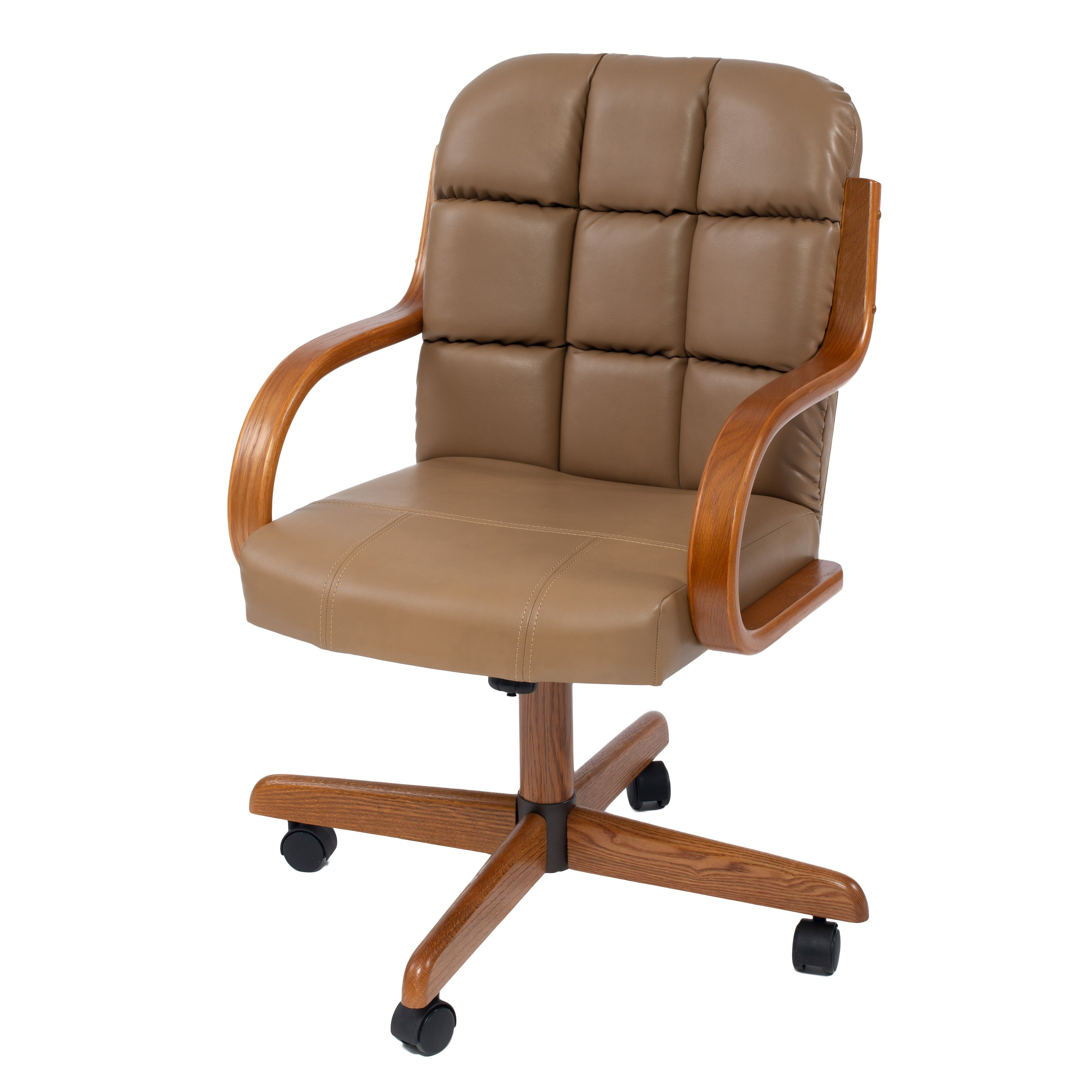 Solid Wood Rolling Caster Office Chair With Tilt And Cushion Seat 22 5 19 36 5 On Sale Overstock 31417285