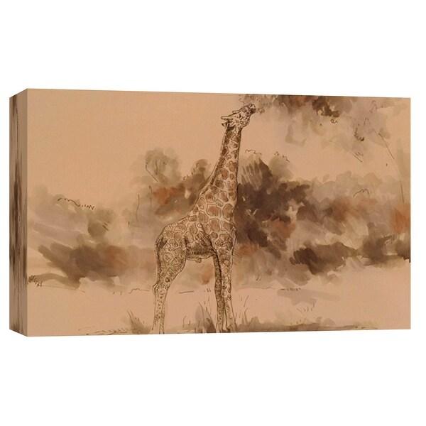 "PTM Images 9-102184 PTM Canvas Collection 8"" x 10"" - ""Giraffe's Isosceles"" Giclee Giraffes Art Print on Canvas"