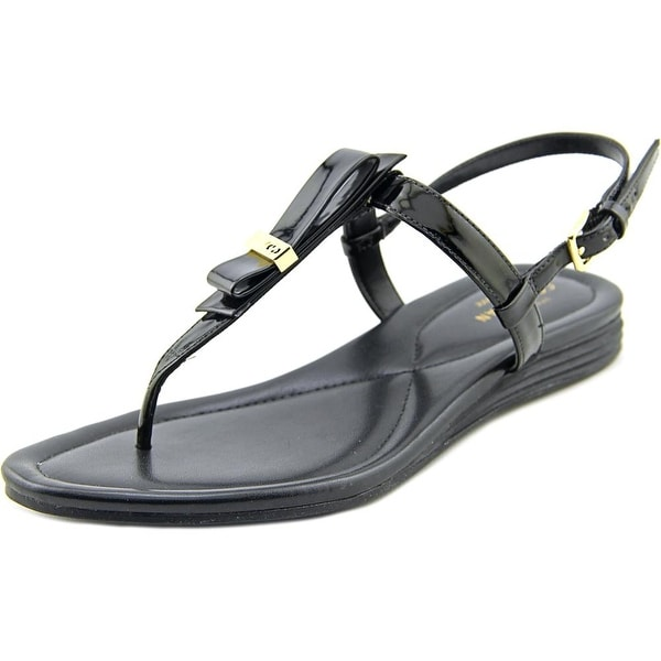 fddb1609b102 Cole Haan Marnie Grand Sandal Women Patent Leather Black Slingback Sandal