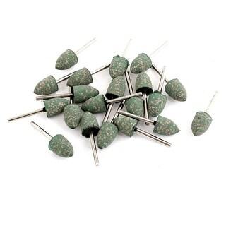 12mm Cone Head Dia Grinding Mounted Point Sanding Polishing Tool Green 20 Pcs