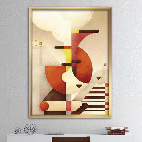 Designart 'All That Jazz' Mid-Century Modern Premium Framed Art Print. Opens flyout.