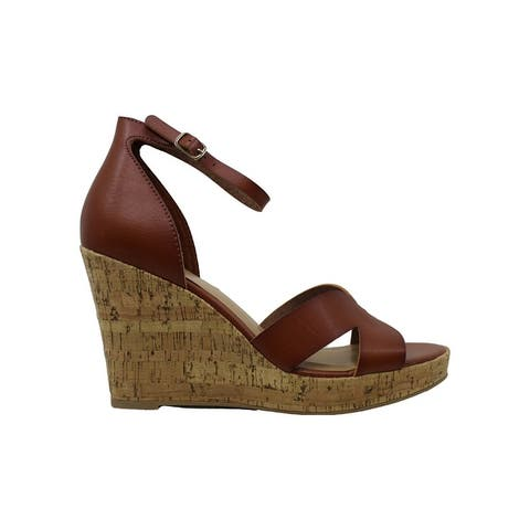 Material Girl Womens Bretta Leather Open Toe Casual Platform Sandals