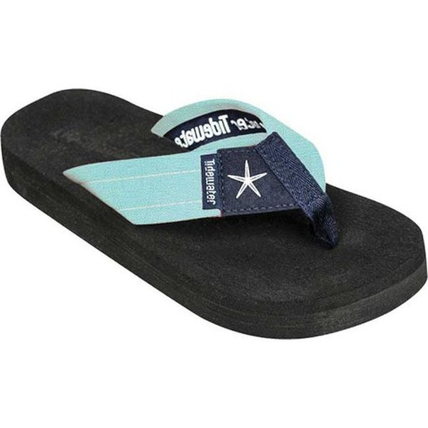 1f9689e0ba11 Shop Tidewater Sandals Women s Starfish Flip Flop Mint Navy - On Sale -  Free Shipping On Orders Over  45 - Overstock.com - 20545742