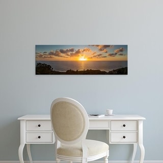 Easy Art Prints Panoramic Image 'Sunset, Pacific Ocean, Torrey Pines Natural Reserve, San Diego,California' Canvas Art