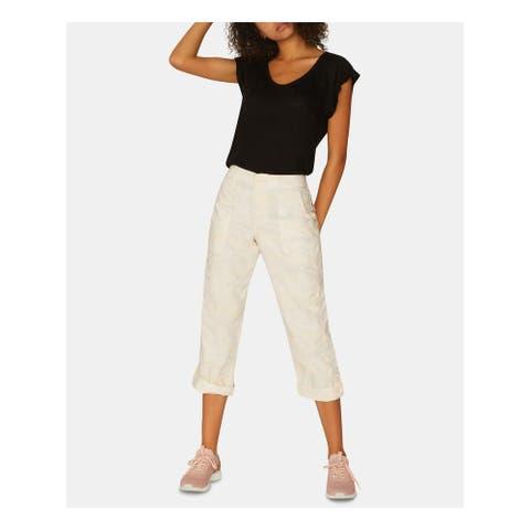 SANCTUARY Womens Ivory Short Length Cargo Pants Size 32 Waist