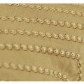 "G Home Collection Luxury Gold Nonobjective Embroidered Line Faux Silk Pillow 14""X20"" - Thumbnail 3"
