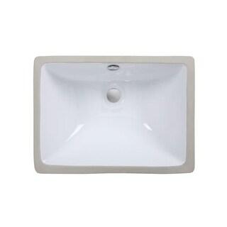 "Ryvyr CUM198R 18-7/8"" Rectangular Undermount Bathroom Sink"