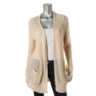 Joie Womens Knit Ribbed Trim Cardigan Sweater - M
