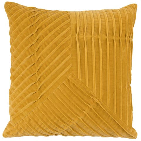 Carson Carrington Hogalid Pleated Cotton Velvet 22-inch Throw Pillow