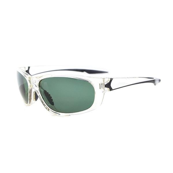 1498094184 Eyekepper Polycarbonate Polarized Sport Sunglasses For Men Women Running TR90  Unbreakable Clear Frame G15 Lens