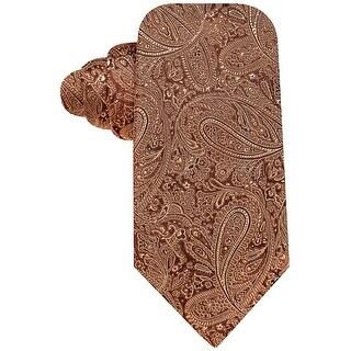 Countess Mara Augustin Brown Paisley Hand Made Classic Silk Tie Necktie