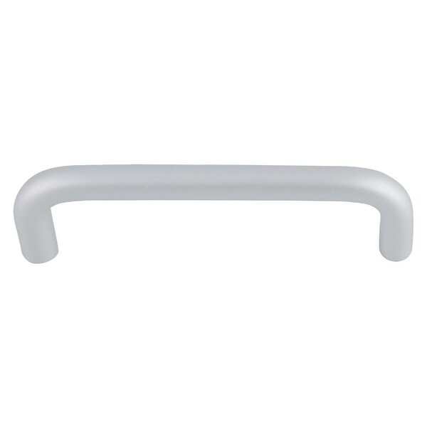 """Cabinet Handle Plating Finish Euro Bar Pull Handles 5"""" Hole Center for Cupboards Door Silver Tone"""