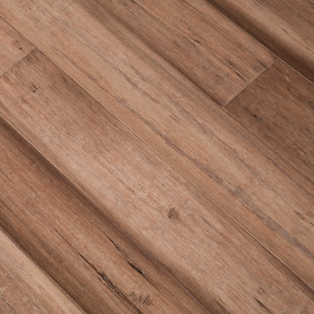 Shop Trinity Bamboo Hdf 5 9 16 Wide Handscraped Wire Brushed