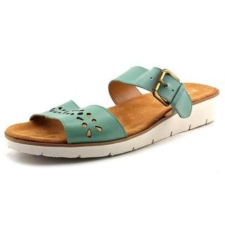 Naturalizer Daria Open Toe Leather Slides Sandal