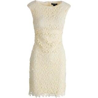 Lauren Ralph Lauren Womens Crochet Sleeveless Wear to Work Dress