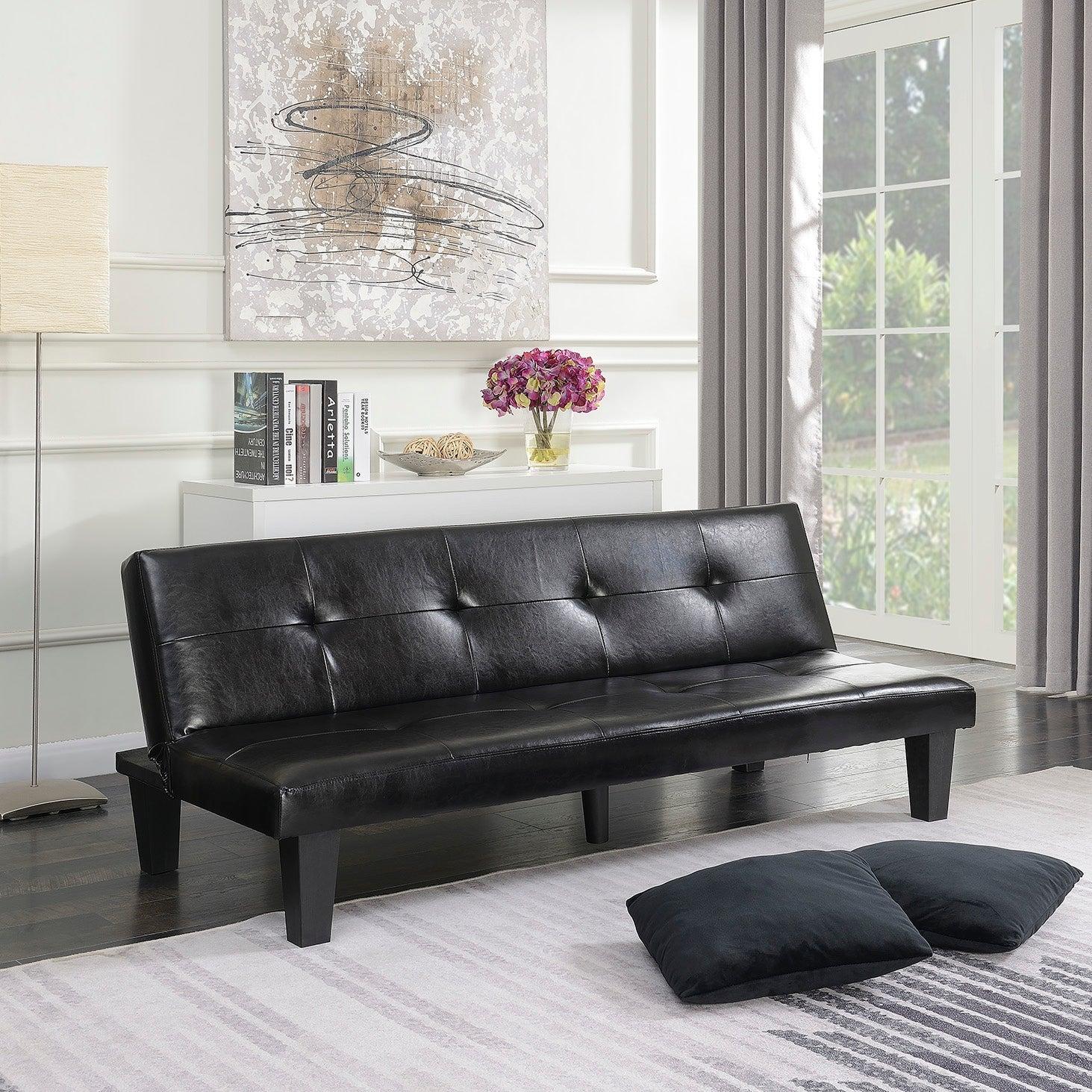 Fold Down Futon Convertible Sofa Bed