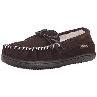 Northside Womens Montauk Suede Round Toe Moccasin Slippers