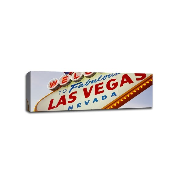 Welcome Sign Las Vegas - Signs - 48x16 Gallery Wrapped Canvas Wall Art