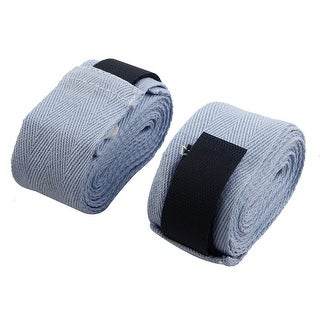 Loop Fastener Closure Protective Hand Wrap Supporter Boxing Bandage Blue Pair