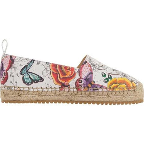 Anuschka Women's Anika Espadrille Loafer Floral Paradise Printed Leather