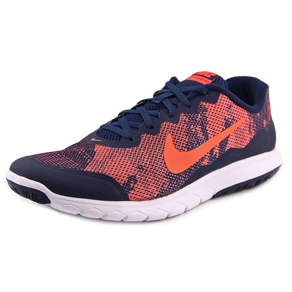Nike Flex Experience Rn 4 Prem Men Round Toe Synthetic Orange Running Shoe