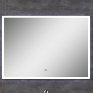 """Miseno MM3928LED 28""""H 39""""W Rectangular Framed Wall Mounted Mirror with LED Lighting"""