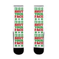 Fa-la-la-la-la-la Shut Your Face US Size 7-13 Socks by LookHUMAN