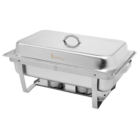 4 Single Basin Four Set Stainless Steel Rectangular Buffet Stove