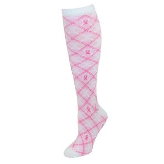 Think Medical Women's Pink Ribbon Support Compression Socks - One Size