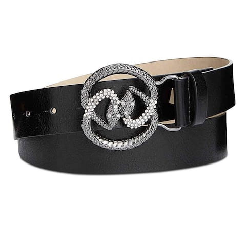 INC International Concepts Women's Snake Buckle Casual Belt Black Size Extra Large - X-Large