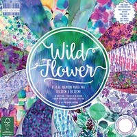 "First Edition Premium Paper Pad 8""X8"" 48/Pkg-Wild Flower, 16 Designs/3 Each"