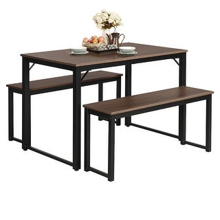Link to Costway Modern 3 Piece Dining Set Studio Collection Soho Dining Table Similar Items in Outdoor Dining Sets
