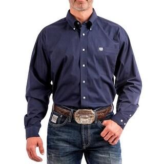 Cinch Western Shirt Mens Long Sleeve Button Pocket Navy
