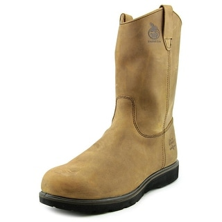 "Georgia Boot G4432 11"" Wellington Pull On Men W Leather Brown Work Boot"