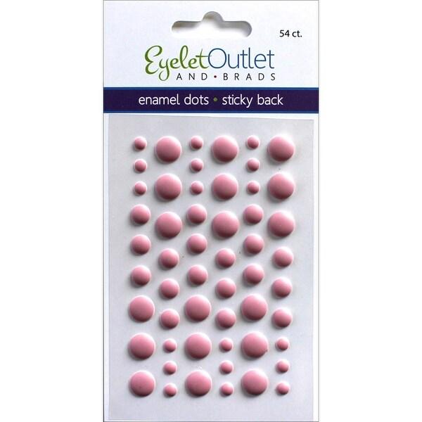 Eyelet Outlet Adhesive-Back Enamel Dots 54/Pkg-Matte Magenta