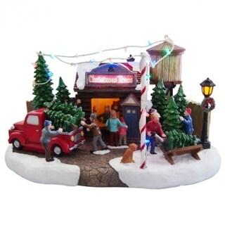 Nature's Mark NM-X13082AA Holiday Animal Tree Lot Scene w/ LED Lights & Music