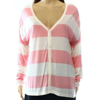 Daniel Buchler NEW Pink Ivory Heather Women's Small S Cardigan Sweater