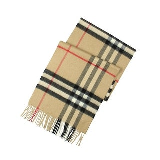 Burberry Giant Icon Rectangle Scarf Cashmere Classic Check - o/s