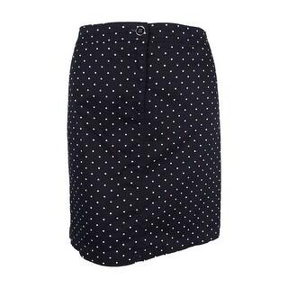 Karen Scott Women's Plus Size Polka-Dot Skort (24W, Deep Black) - 24W